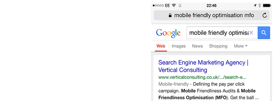 Mobile Friendliness Optimisation - Try searching in your mobile phone